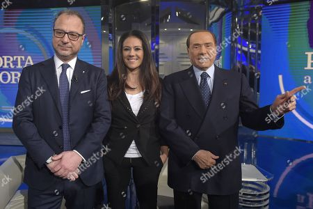 Giorgio Mule, Giusy Versace and Silvio Berlusconi