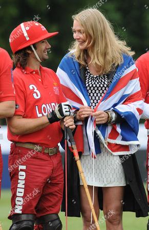 Henry Brett of Team London and Jodie Kidd