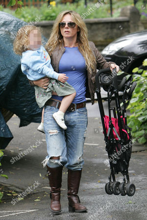 Stock Picture of Geri Halliwell with daughter Bluebell Madonna