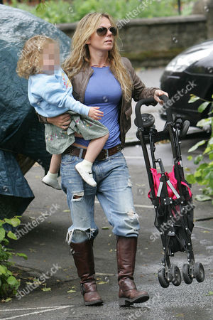 Stock Image of Geri Halliwell with daughter Bluebell Madonna