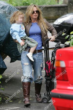 Editorial photo of Geri Halliwell picking up her daughter Bluebell Madonna from nursery school, London, Britain - 10 Jun 2009