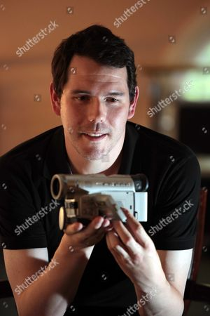 Film maker Marc Price with the Panasonic camcorder he used for his film 'Colin'