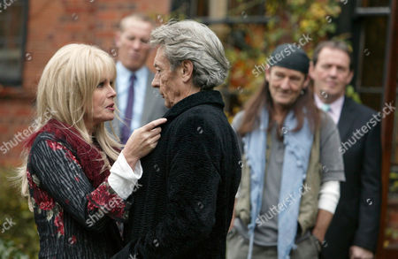 'Lewis'   TV Series 3 'Counter Culture Blues' Pictured [foreground]: Esme Ford [Joanna Lumley] and Franco [Anthony Higgins].
