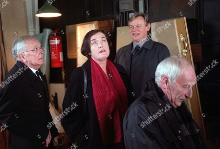 Stock Picture of 'William and Mary'   TV   Series 2   Episode 1 Picture Shows: Tenniel Evans (Elderly Undertaker), Catherine Terris (Mrs Spalding), Martin Clunes (William) and James Greene (Arnold)