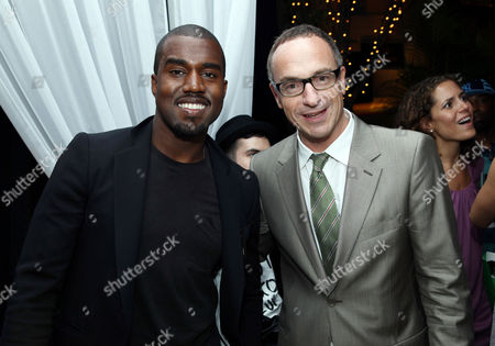 Stock Image of Kanye West with Conde Nast's Editorial Director, Jamie Pallot