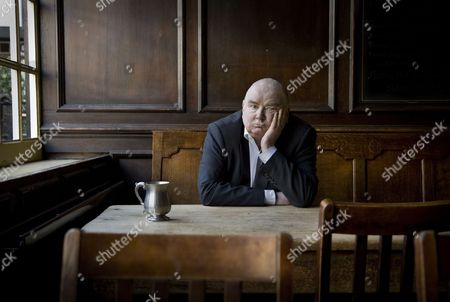Peter Ackroyd, photographed in the George Tavern in Borough, London