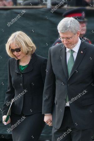 Stock Photo of Stephen Harper and Laureen Harper