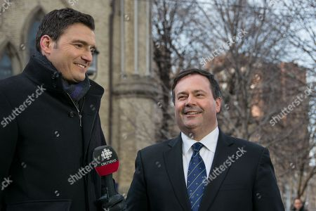 Jason Kenney, Minister of Employment and Multiculturalism with CBC reporter Evan Solomon