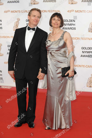 Linus Roache and wife Rosalind Bennett