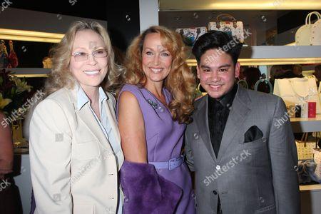 Faye Dunaway, Jerry Hall and Prince Azim