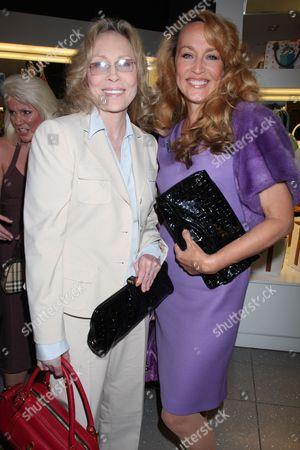 Faye Dunaway and Jerry Hall
