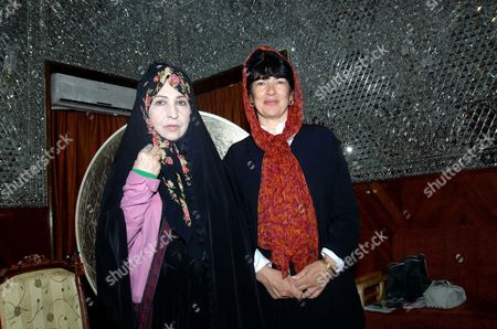 Zahra Rahnavard and Christiane Amanpour