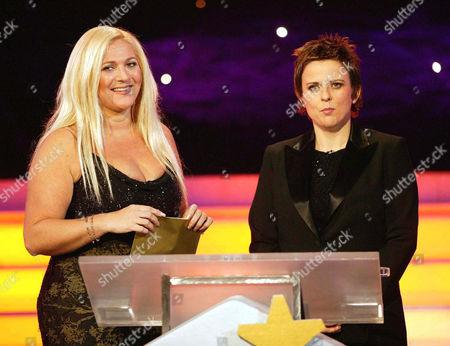 'The Luvvies'  TV - 2004 -    Rhona Cameron with Vanessa Feltz.