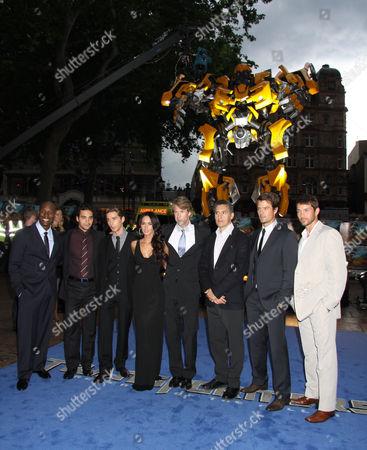Tyrese Gibson, Ramon Rodriguez, Shia LaBeouf, Megan Fox, Michael Bay, John Turturro, Josh Duhamel and Matthew Marsden