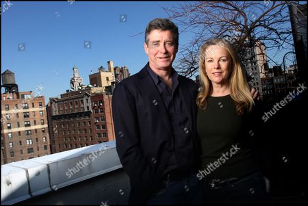 Jay McInerney and his wife Anne Hearst