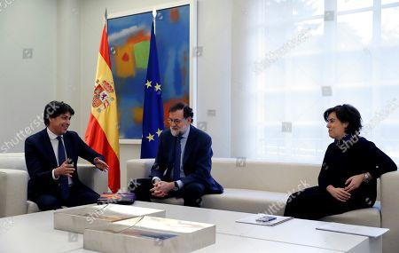 Mariano Rajoy, Soraya Saez de Santamaria and Jose Rosinol