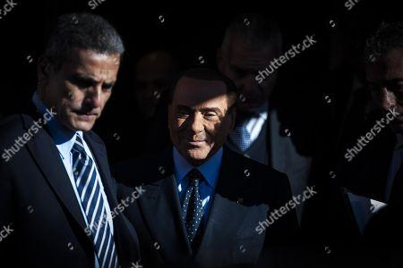 Editorial photo of Forza Italia (FI) leader Silvio Berlusconi in Rome, Rome, Italy - 15 Feb 2018