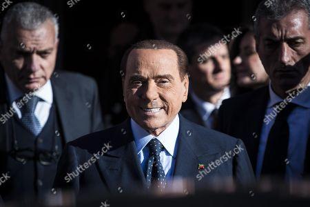 Editorial picture of Forza Italia (FI) leader Silvio Berlusconi in Rome, Rome, Italy - 15 Feb 2018