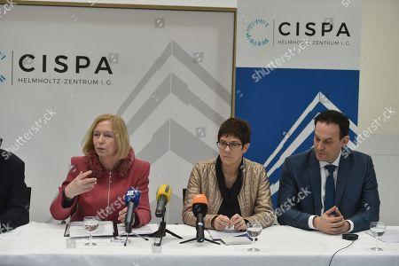 Prof. Dr. Johanna Wanka, Annegret Kramp-Karrenbauer, Prof. Dr. Michael Backes