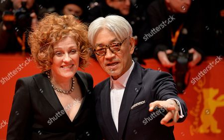 Jury members Ryuichi Sakamoto (R) and Stephanie Zacharek arrive at the red carpet for the opening ceremony of the 68th annual Berlin International Film Festival (Berlinale), in Berlin, Germany, 15 February 2018. The Berlinale runs from 15 to 25 February.