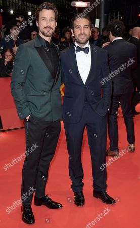 Florian David Fitz (L) and Elyas M'Barek pose on the red carpet of the opening ceremony of the 68th annual Berlin International Film Festival (Berlinale), in Berlin, Germany, 15 February 2018. The Berlinale runs from 15 to 25 February.