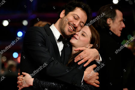 German actor of Turkish origin Fahri Yardim (L) and Swiss actress Jasna Fritzi Bauer (R) pose at the red carpet for the opening ceremony of the 68th annual Berlin International Film Festival (Berlinale), in Berlin, Germany, 15 February 2018. The Berlinale runs from 15 to 25 February.