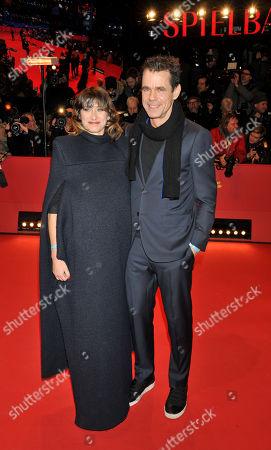 Tom Tykwer with wife Marie Steinmann
