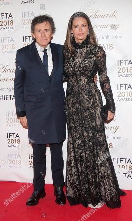 Stock Photo of Gabriel Byrne and wife Hannah Beth King