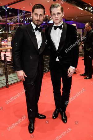 German actor Clemens Schick (L) and German actor Max von der Groeben pose during the opening party after the screening of 'Isle of Dogs' at the 68th annual Berlin International Film Festival (Berlinale), in Berlin, Germany, 15 February 2018. The Berlinale runs from 15 to 25 February.