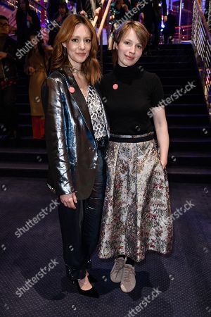 German actress Lavinia Wilson (L) and German actress Anna Brueggemann pose during the opening party after the screening of 'Isle of Dogs' at the 68th annual Berlin International Film Festival (Berlinale), in Berlin, Germany, 15 February 2018. The Berlinale runs from 15 to 25 February.
