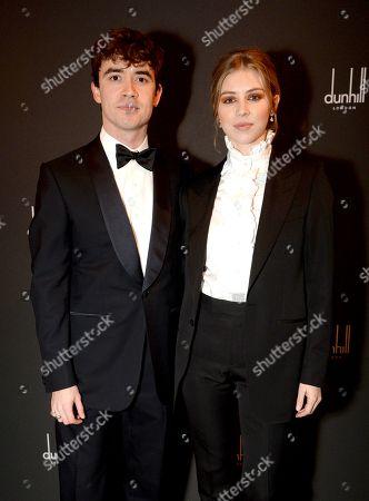 Jamie Blackley and Hermione Corfield