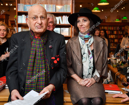 Stock Picture of Naim Attallah and Christina Oxenberg