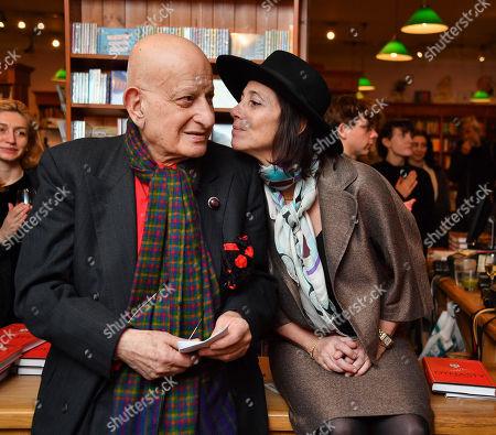 Stock Photo of Naim Attallah and Christina Oxenberg