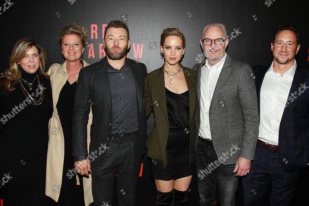 Kira Goldberg, Jenno Topping, Joel Edgerton, Jennifer Lawrence, Francis Lawrence and David Ready