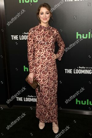"""Ella Rae Peck attends the premiere of Hulu's limited dramatic series """"The Looming Tower"""" at The Paris Theatre, in New York"""