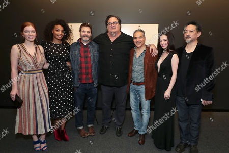 Stock Picture of Annalise Basso, Shinelle Azoroh, Nick Offerman, Writer/Director/Producer Mark Pellington, John Ortiz, Mikey Madison and Producer Tom Gorai