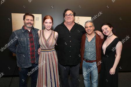 Nick Offerman, Annalise Basso, Writer/Director/Producer Mark Pellington, John Ortiz and Mikey Madison