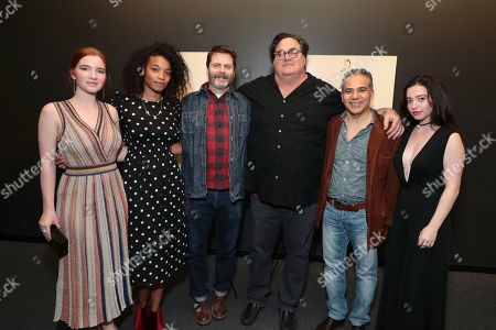Annalise Basso, Shinelle Azoroh, Nick Offerman, Writer/Director/Producer Mark Pellington, John Ortiz and Mikey Madison
