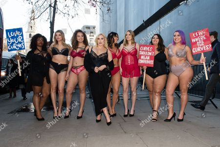Editorial image of Simply Be plus size models protest, London Fashion Week, UK - 16 Feb 2018