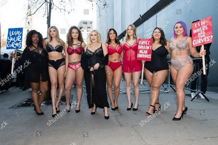 Editorial photo of Simply Be plus size models protest, London Fashion Week, UK - 16 Feb 2018