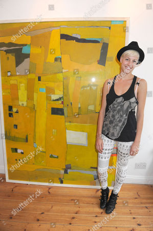 Editorial image of Tahnee Lonsdale at a Showing of Her Latest Collection of Paintings, 'Metropolis', Gallery 5, Notting Hill, London, Britain - 17 Jun 2009