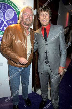 Stock Photo of Richard Branson and Ludo Miazga