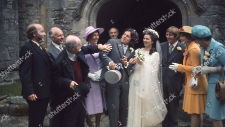 Ep 0192 Tuesday 10th September 1974 Joe Sugden and Christine Sharp's wedding day - With Joe Sugden, as played by Frazer Hines ; Christine Sharp, as played by Angela Cheyne; Annie Sugden, as played by Sheila Mercier ; Matt Skilbeck, as played by Frederick Pyne ; Sam Pearson, as played by Toke Townley ; Amos Brearly, as played by Ronald Magill ; Henry Wilks, as played by Arthur Pentelow ; Rev Ruskin, as played by George Little.