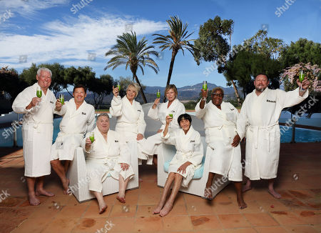 (l-r) Roy Walker, Sid Owen, Russell Grant, Sherrie Hewson, Claire King, June Brown, Sandra Martin,  and Shauna Ryder