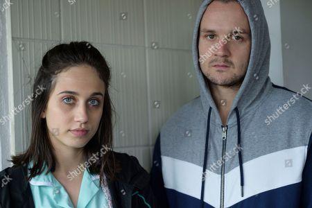 Josh Herdman as Eric and Harriet Cains as Gail.