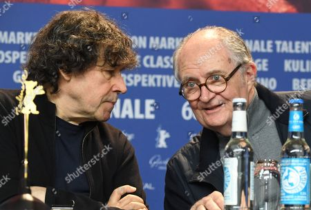 British actor Stephen Rea (L) and British actor Jim Broadbent  (R) attend a press conference for 'Black 47' at the 68th annual Berlin International Film Festival (Berlinale), in Berlin, Germany,16 February 2018. The Berlinale runs from 15 to 25 February.