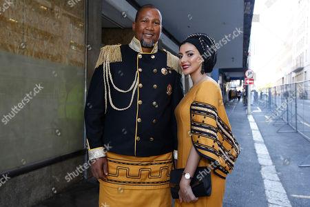 Mandla Mandela and Rabia Mandela