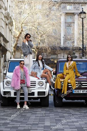 Lorna Luxe, Alicia Roddy, Bonnie Rakhit, Anisa Sojka - Mercedes Benz UK promotion
