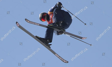 Katie Summerhayes of Great Britain in the Women's Freestyle Skiing Ski Slopestyle competition at the Bokwang Phoenix Park during the PyeongChang 2018 Olympic Games, South Korea, 17 February 2018.