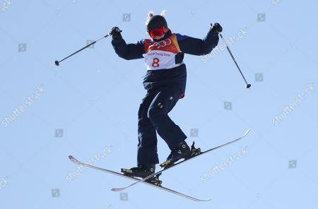 Katie Summerhayes of Great Britain during competition in the Women's Freestyle Skiing Ski Slopestyle competition at the Bokwang Phoenix Park during the PyeongChang 2018 Olympic Games, South Korea, 17 February 2018.